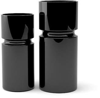 """Tsunami Glassworks Hand-Blown Glass Cylinder Vase """"Nomi"""""""