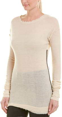 Helmut Lang Coverstitch Cashmere Pullover