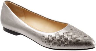 Trotters Woven Vamp Pointed Flats - Estee Woven