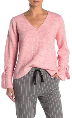 FRNCH Long Sleeve Tie Cuff Sweater