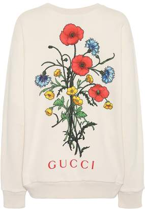 0fd2109dc0af Showing 221 Women's Sweatshirts filtered to 1 brand. Free Shipping!! at  mytheresa · Gucci Chateau Marmont cotton sweatshirt