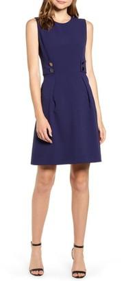 Anne Klein Crepe Fit & Flare Dress
