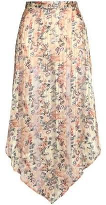 Haute Hippie Metallic Floral-Print Silk-Chiffon Maxi Skirt