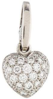 Cartier 18K Diamond Heart Charm