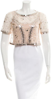 Alice by Temperley Klementina Embellished Top w/ Tags $595 thestylecure.com