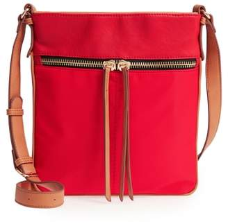 Sondra Roberts Nylon & Faux Leather Crossbody Bag
