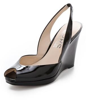 KORS Vivian Open Toe Wedge Sandals