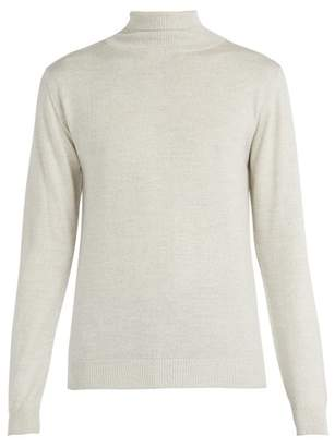 Oliver Spencer Merino Wool Roll Neck Sweater - Mens - Cream