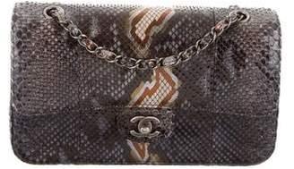 Chanel Python Classic Medium Double Flap Bag