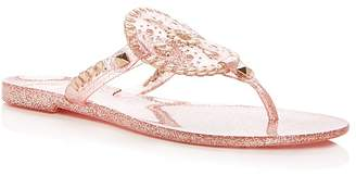 Jack Rogers Sparkle Georgica Jelly Thong Sandals