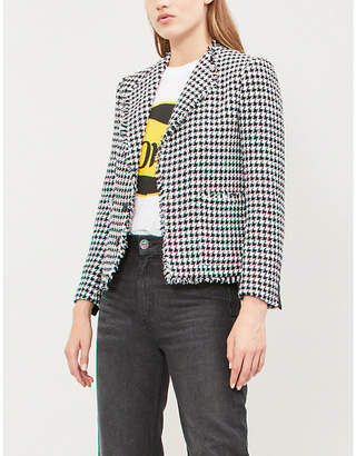 Claudie Pierlot Virginia houndstooth cotton-blend blazer