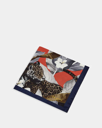 Ted Baker BALLOON Jungle print silk pocket square