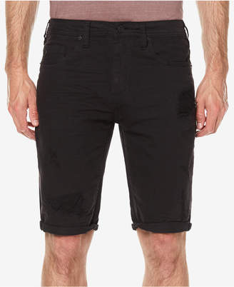 Buffalo David Bitton Men's Parker Slim-Fit Destroyed Denim Shorts