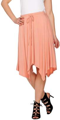 Halston H By H by Knit Skirt with Handkerchief Hem