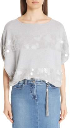 Fabiana Filippi Paillette Stripe Cashmere Sweater