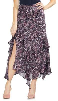 Vince Camuto Sapphire Bloom Printed Skirt