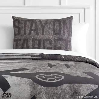 Pottery Barn Teen Star Wars Space Chase Duvet Cover, Twin, Charcoal