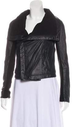 Veda Paneled Leather Jacket