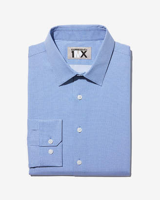 Express Classic Blue Microdot Dress Shirt