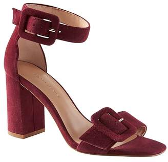 Banana Republic Buckle Block-Heel Sandal