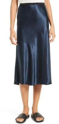 Women's Vince Satin Midi Skirt $255 thestylecure.com