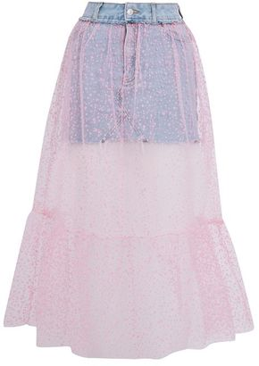 Topshop Moto tulle pink skirt $68 thestylecure.com