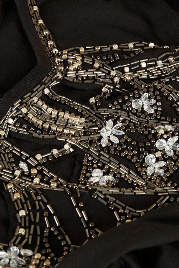 Topshop Petite Embellished Necklace Tee