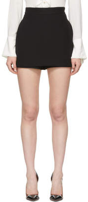 Alexander McQueen Black Leaf Crepe Miniskirt