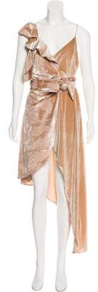Self-Portrait Silk-blend Maxi Dress
