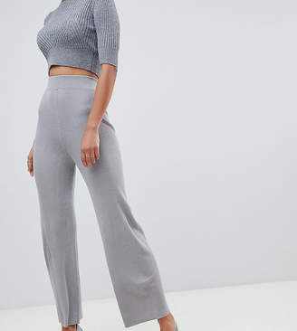 Fashion Union Tall Knitted Pants In Rib Two-Piece