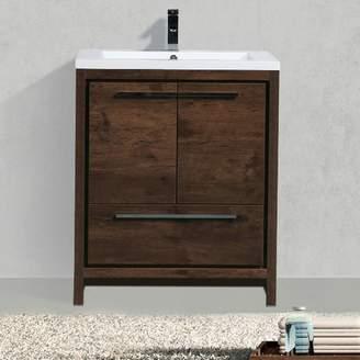 "Langley Street Almendarez Free Standing Modern 30"" Single Bathroom Vanity Set"