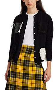 LE KILT Women's Pocket-Detailed Cashmere Cardigan - Black