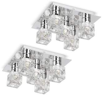 Ice cube ceiling lights shopstyle uk at ff clothing minisun pair of ritz five way ice cube ceiling lights chrome aloadofball Choice Image