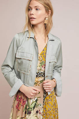 Anthropologie Piped Trucker Jacket