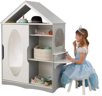 Kid Kraft Wooden Dress Up Armoire and Vanity with Costume Storage and Mirror