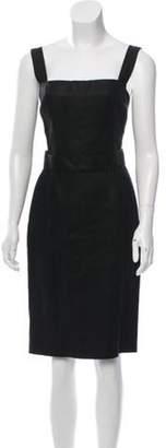Dolce & Gabbana Belted Sleeveless Dress Black Belted Sleeveless Dress