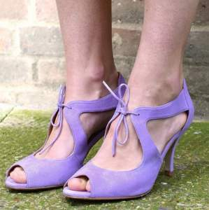 22184323c Go Emma Go - Daphne Lavender Suede Shoes - 37 - Purple