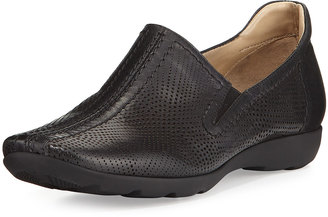 Sesto Meucci Gabys Perforated Leather Slip-On, Black $169 thestylecure.com