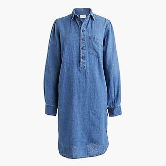 J.Crew Side-button shirtdress in chambray