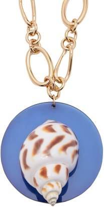 Sirena REBECCA DE RAVENEL shell and gold-plated pendant necklace