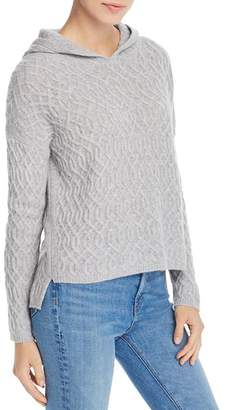 Aqua Cable-Knit Hooded Cashmere Sweater - 100% Exclusive