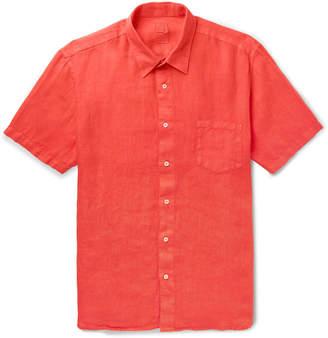 120% - Garment-Dyed Linen Shirt - Men - Red