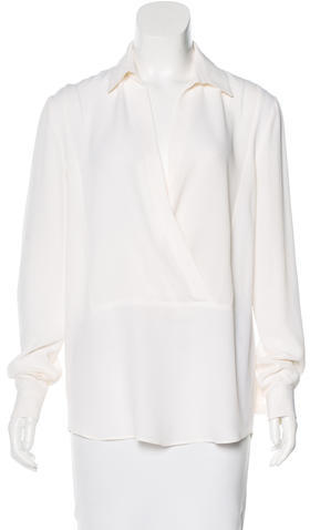 MICHAEL Michael Kors Michael Kors Silk-Blend Long Sleeve Top