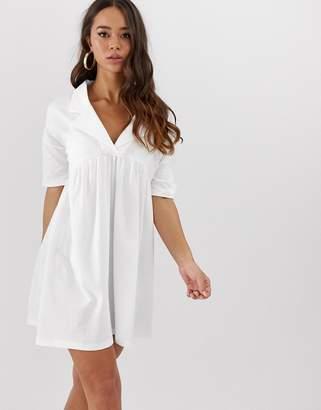 5c110b6aa Asos Design DESIGN oversized smock dress with collar