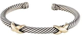David Yurman Two-Tone Double X Bracelet
