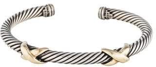 David Yurman Two-Tone Double X Bracelet