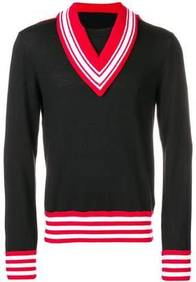 Maison Margiela deconstructed V-neck sweater
