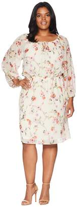 Adrianna Papell Plus Size Bontia Oasis Peasant Dress Women's Dress