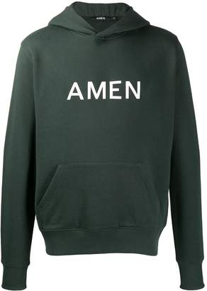 Amen logo print hoodie