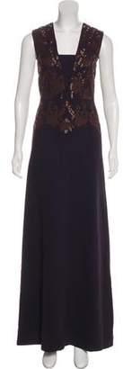 Tory Burch Sequin Sleeveless Maxi Dress
